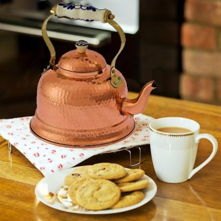 Ceainic din Cupru Efect Lovitura Ciocan, Traditional, 1,5L