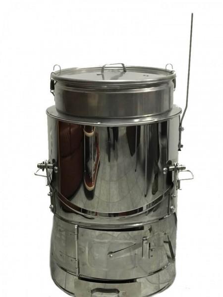 Ceaun Inox cu Soba si Capac, Basculant, 150 Litri