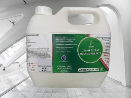 Dezinfectant Multisuprafete Bidon 3 Litri, formula speciala concentrata 0.1L la 5L, Antibacterian Covid-19