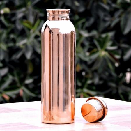 Sticla Cupru Lucios pentru Alcalinizarea Apei, 900ml, Ayurveda