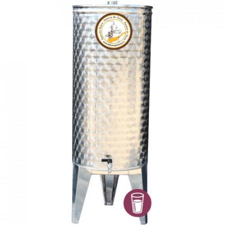 Butoi Cisterna Inox pentru Vin 100 Litri, cu Etansare Capac Parafina