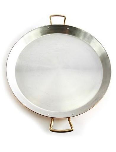 "Tigaie Cupru, Manere din Bronz, Ø32cm ""Paella, Pizza, Clatite, Omleta"""