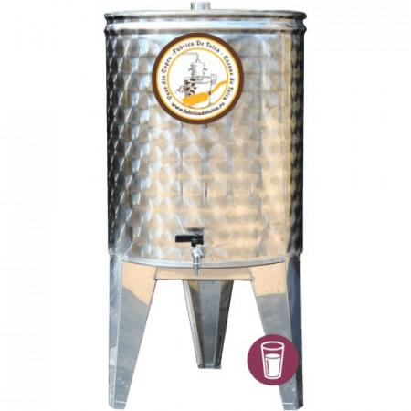 Butoi Cisterna Inox pentru Vin 60 Litri, cu Etansare Capac Parafina