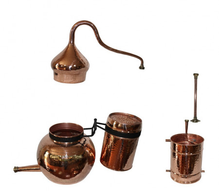 Cazan cu Coloana Distilare Uleiuri Esentiale, Bauturi Aromatice, 120Litri