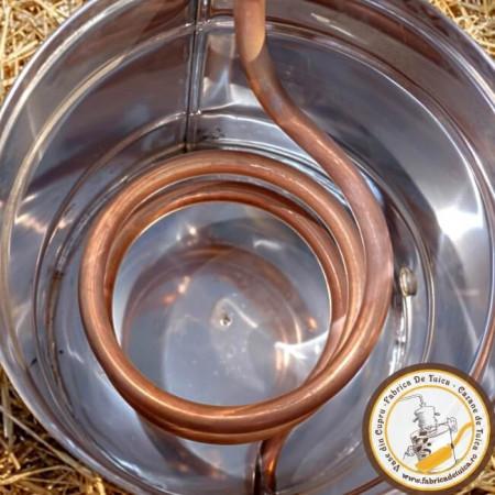 Cazan Tuica 35 Litri cu Amestecator si Focar pentru Lemn
