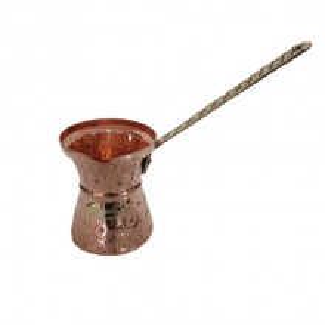 Ibric Cafea din Cupru Solid Gravat, 580ml, Maner Bronz, ExtraAroma N10