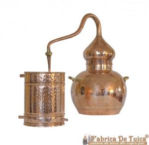 Cazan Tuica Alambic Cupru Pur 15 Litri, cu Termometru Inlcus
