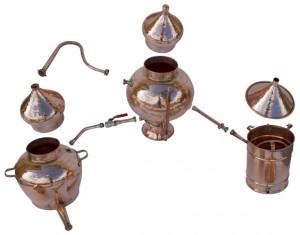 Cazan Premium pentru Cognac, Alambic Charental 1 Litru, Distilare Continua