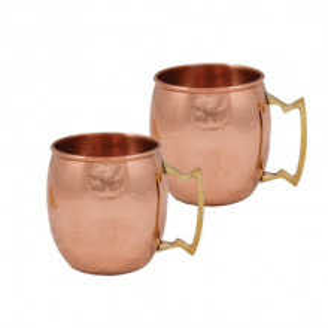 Set 2 Cani Cupru Lucios, 500ml, Ayurveda, Moscow Mule, Cocktailuri