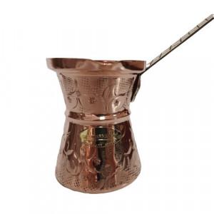 Ibric Cafea din Cupru Solid Gravat, 380ml, Maner Bronz, ExtraAroma N8