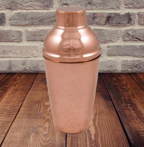 Shaker din Cupru pentru Cocktailuri, cu Sita si Capac 550ml