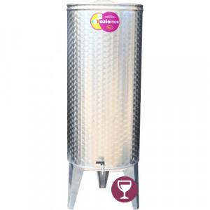 Butoi Cisterna Inox pentru Vin 180 Litri, cu Etansare Capac Parafina