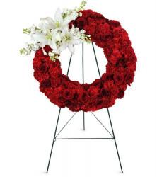 Coroana rotunda trandafiri rosii