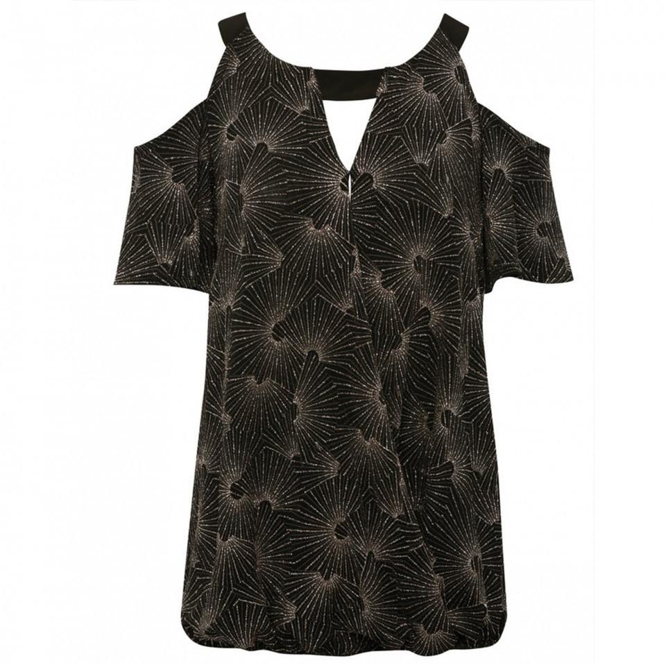 Bluza M&Co cu sclipici si decupaj - E
