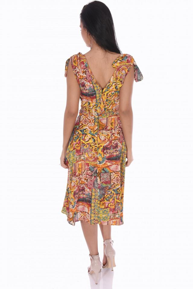 Rochie midi cu imprimeu