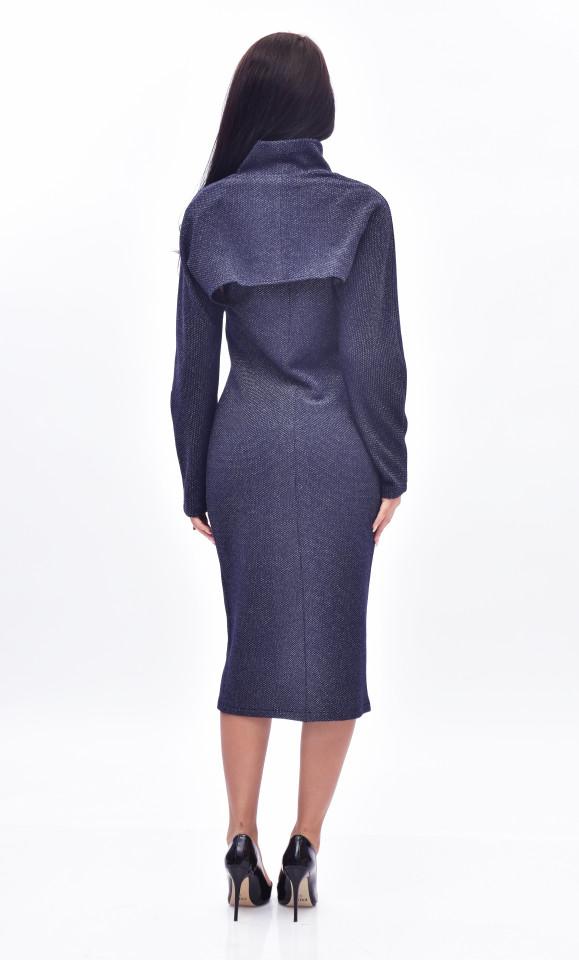 Rochie midi eleganta cu bolero - bleumarin
