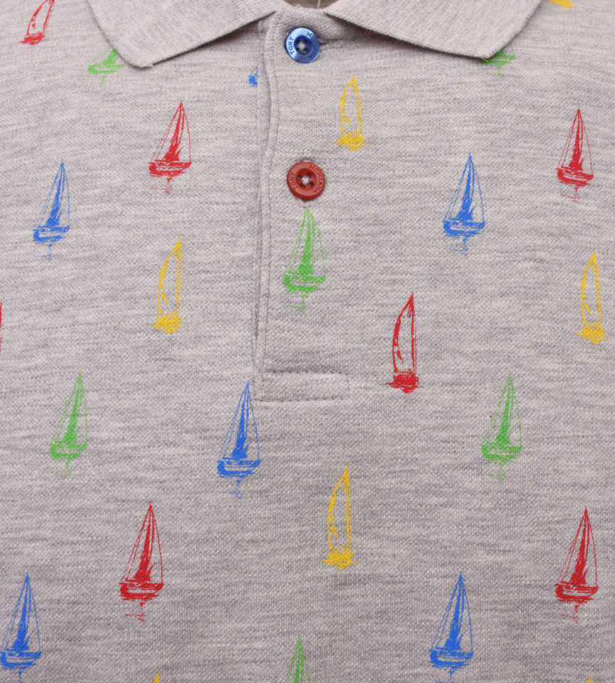 Tricou Polo Barbati Regular Fit Tony Montana- Sea Club-gri