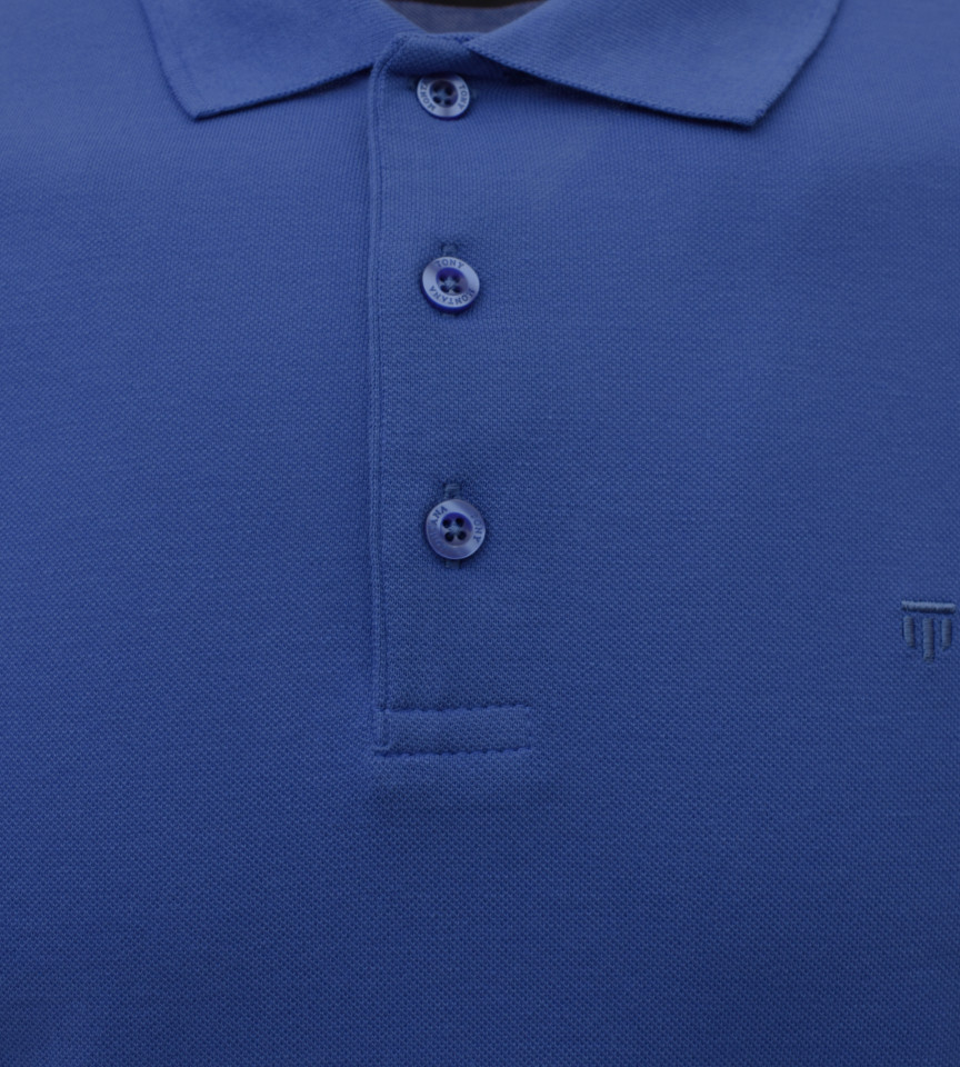 Tricou Polo Barbati Slim Fit Tony Montana -albastru