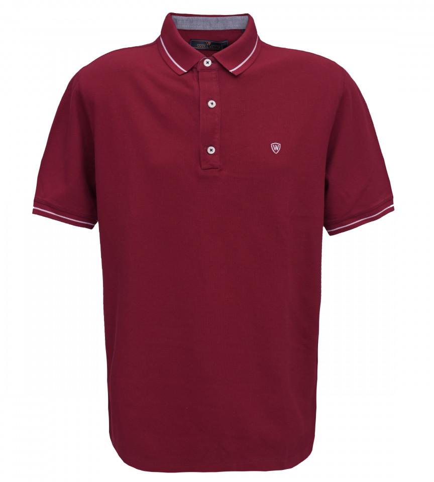 Tricou Polo Regular fit- grena