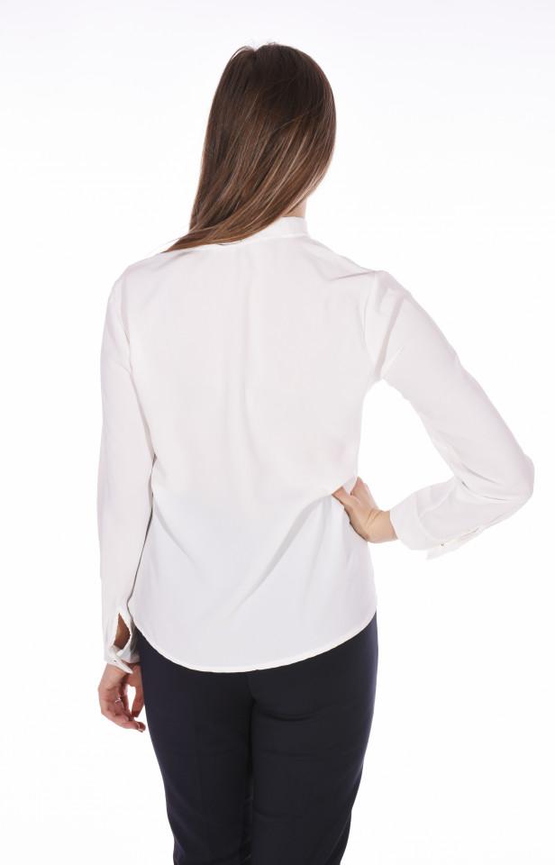 Camasa eleganta cu funda - alb-