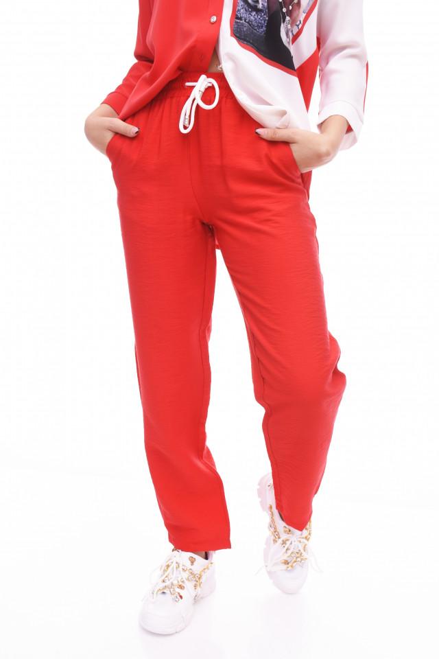 Pantaloni casual/ sport - rosu-