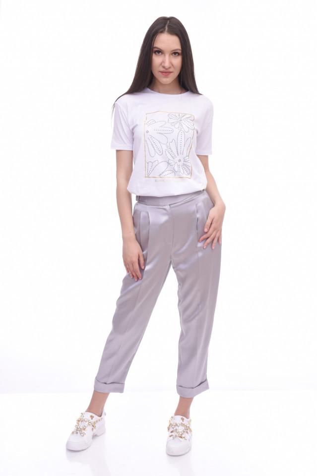 Pantaloni chino satinati - E