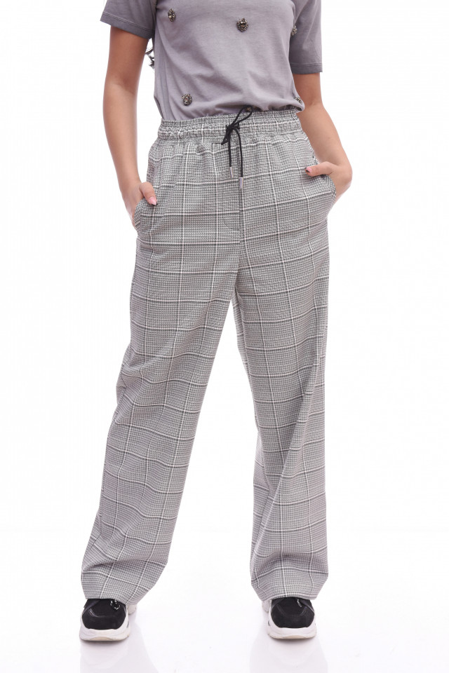 Pantaloni dama casual/sport in carouri -E-