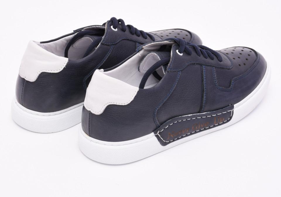 Pantofi sport barbati bleumarin din piele naturala Tony Montana