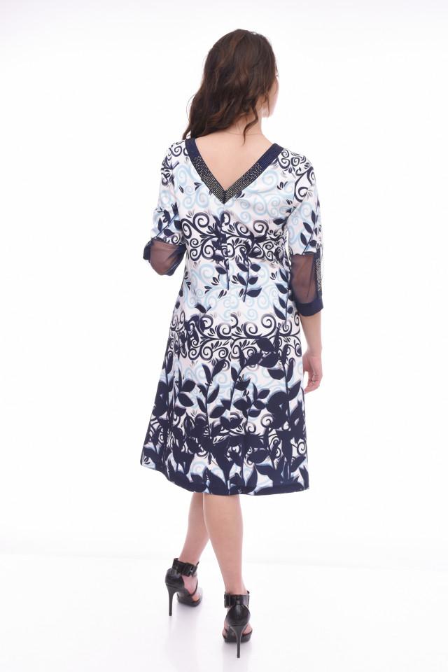 Rochie midi eleganta cu imprimeu floral Celia
