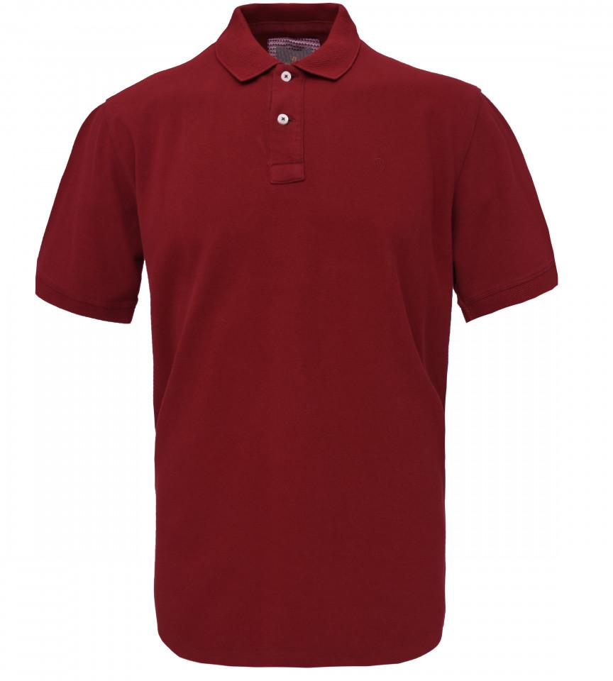 Tricou Polo Barbati Regular Fit Wellalux -grena