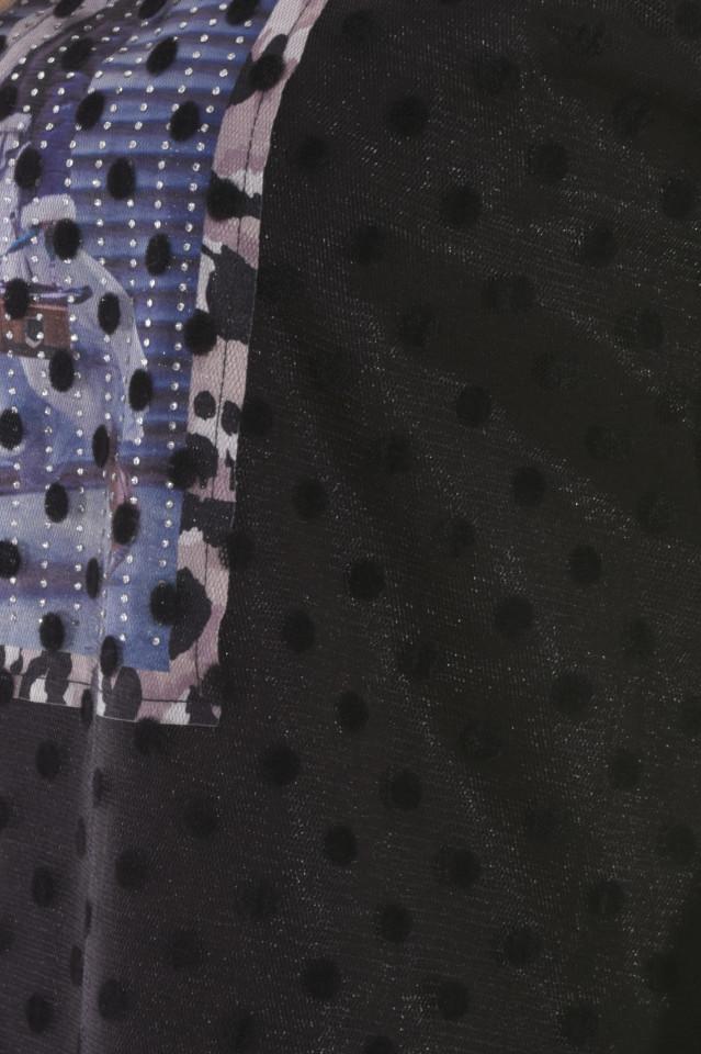 Bluza lejera cu dublura din organza