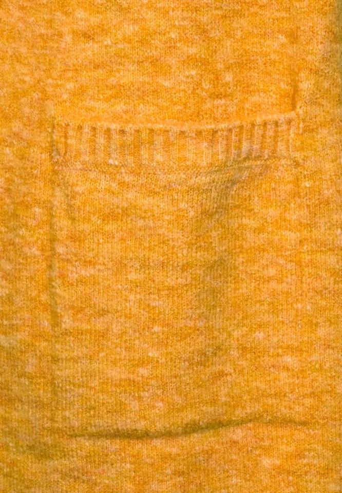Cardigan din tricot gros cu buzunare - mustar-