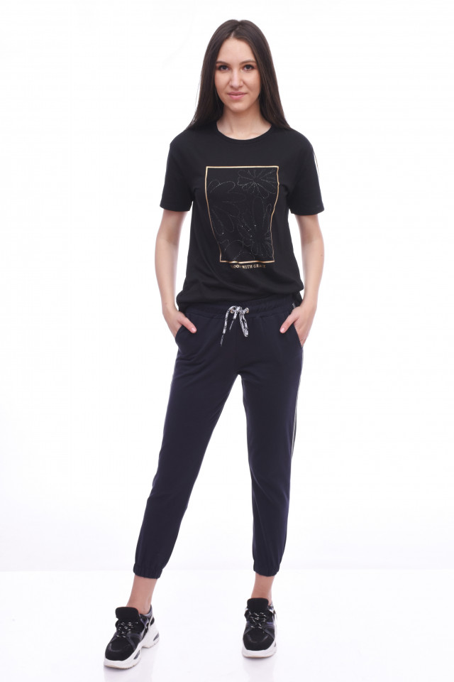 Pantaloni dama sport Lisa - bleumarin -