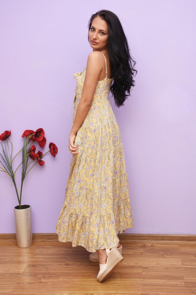 Rochie dama maxi cu imprimeu floral Nicole