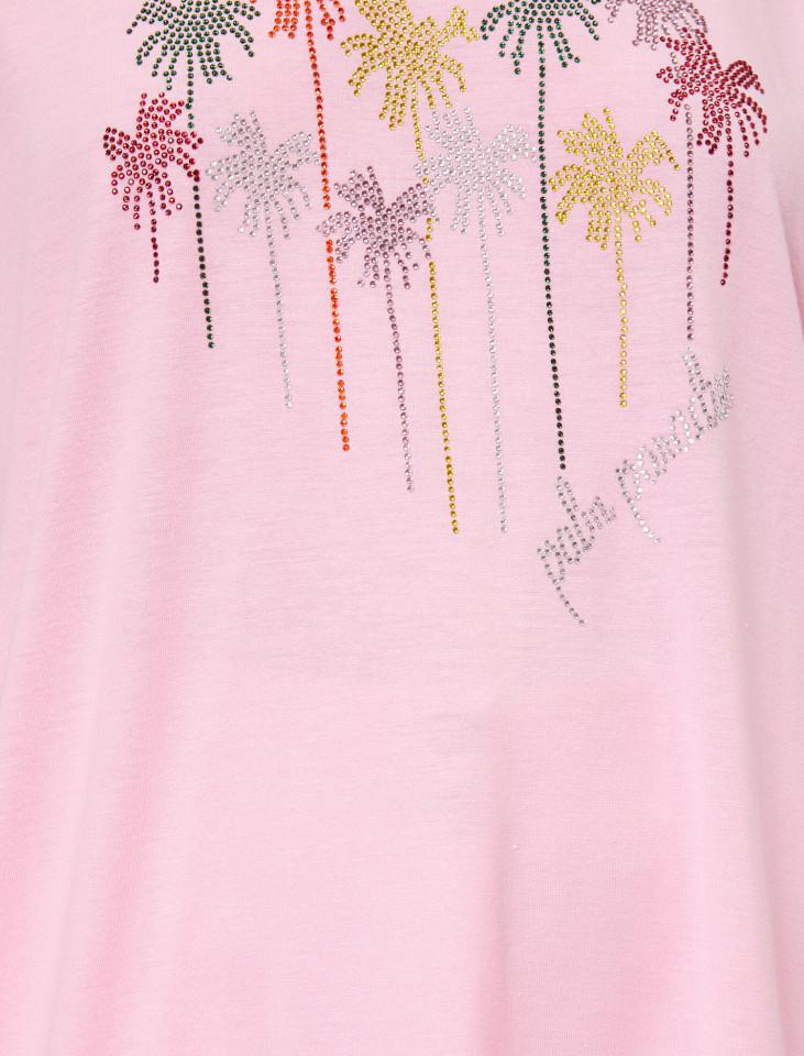 """Tricou dama casual cu imprimeu """"Palm Paradise"""""""