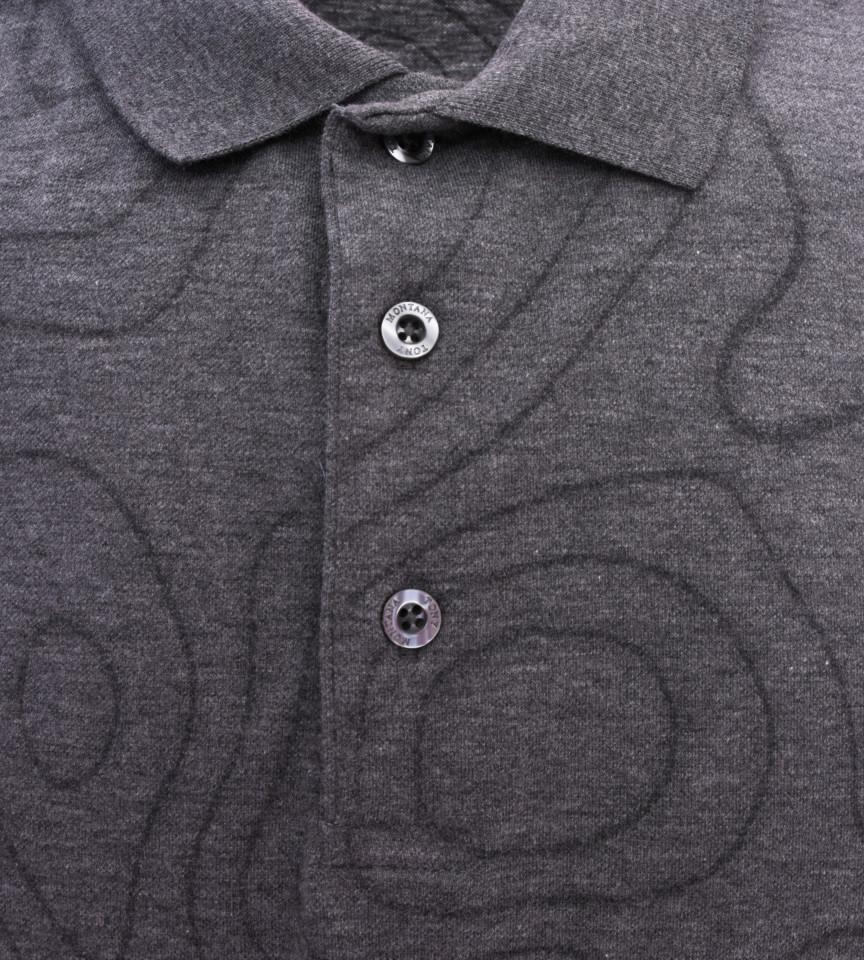 Tricou Polo Barbati Regular fit Tony Montana cu imprimeu - gri