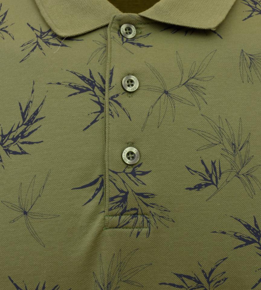 Tricou Polo Barbati Regular Fit Tony Montana- Floral -kaki