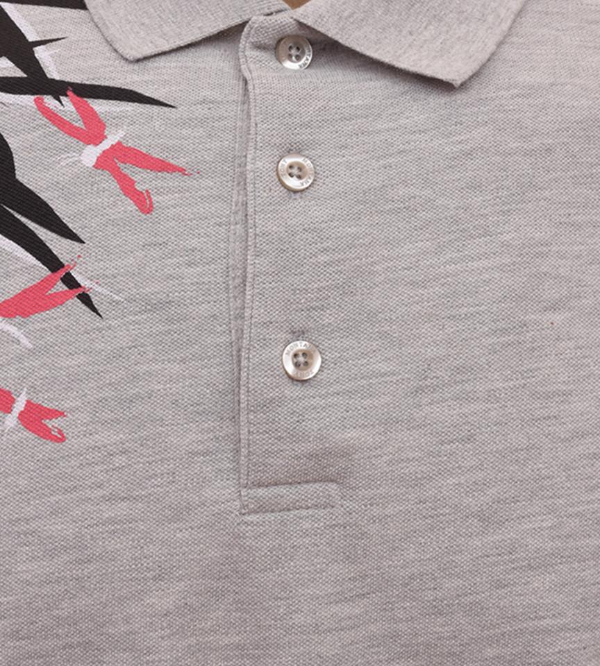 Tricou Polo Barbati Regular Fit Tony Montana- Leaf -gri