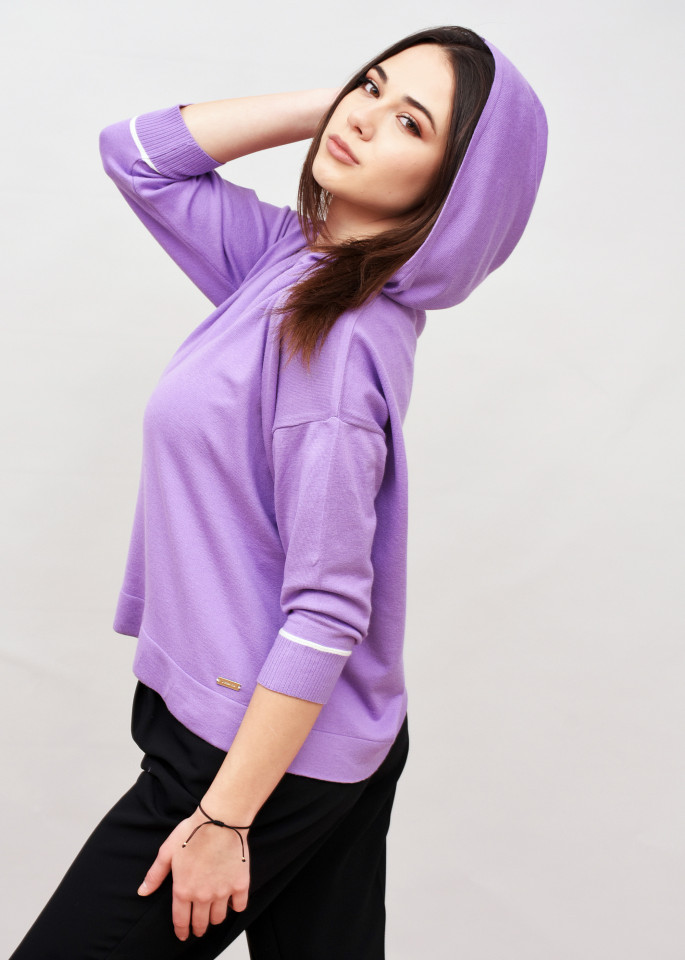 Bluza Raspberry din tricot moale