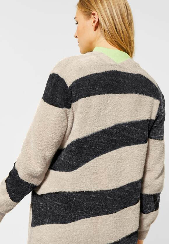 Cardigan dama pufos zebra print