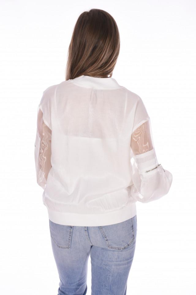 Jacheta dama sport/casual - alb-