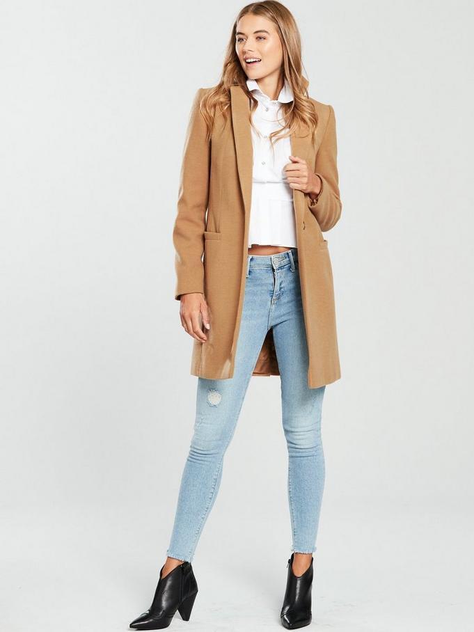 Palton dama casual cu croi drept