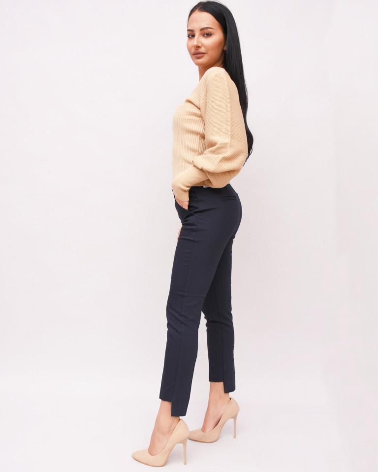 Pantaloni bleumarin asimetrici