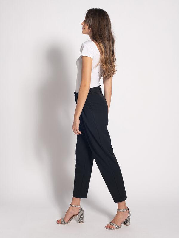 Pantaloni dama casual -negru-