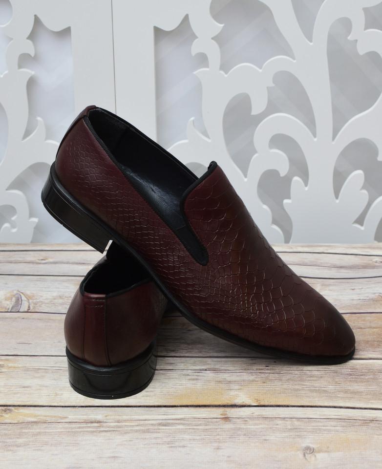 Pantofi din Piele Grena