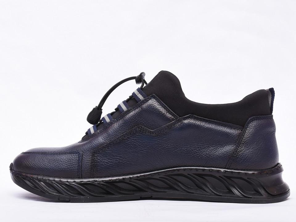 Pantofi sport barbati bleumarin din piele naturala