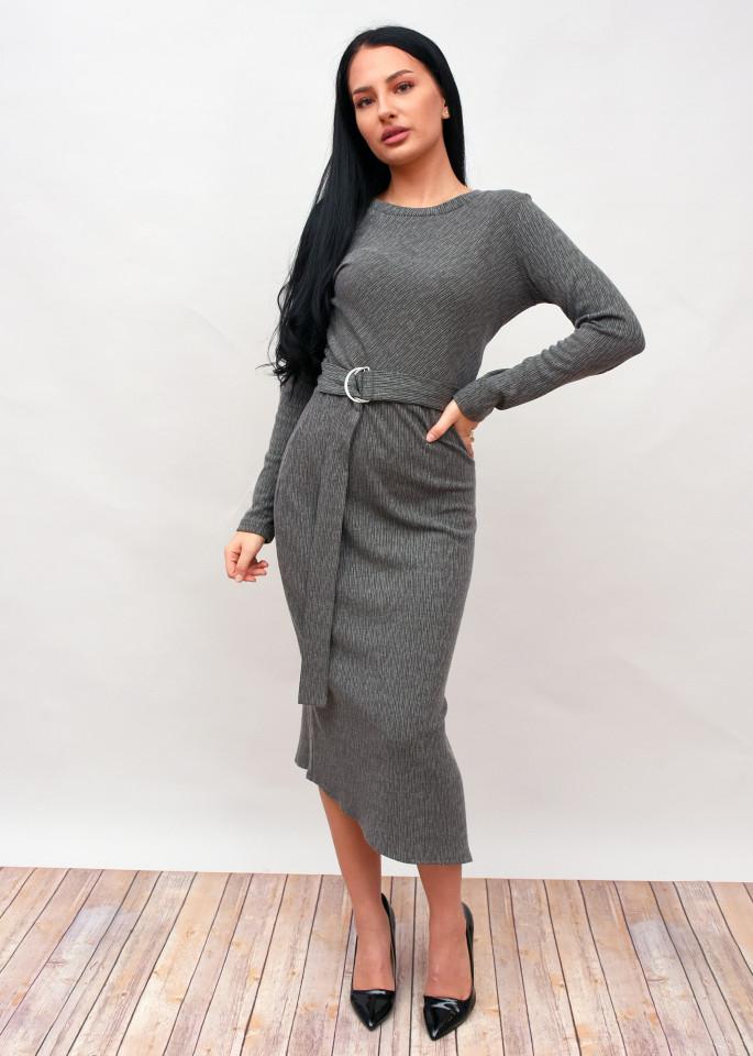 Rochie lunga eleganta cu curea