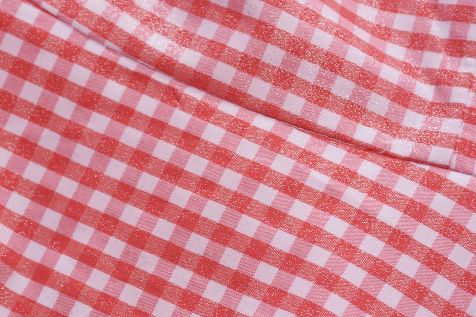 Rochie midi de zi in carouri Clara- rosu-