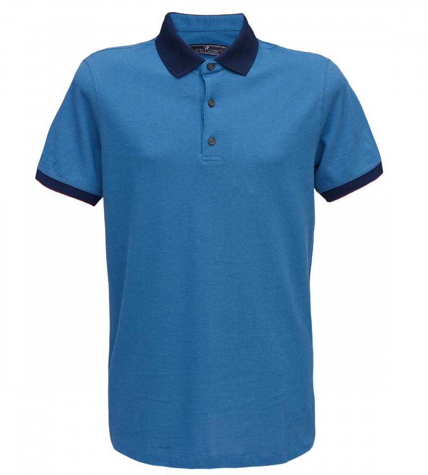 Tricou Polo Regular fit- albastru/bleumarin