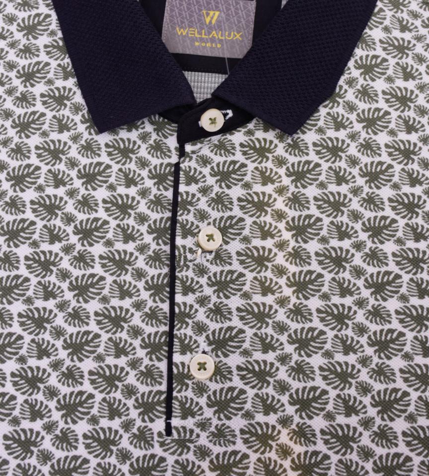 Tricou Polo Regular fit cu imprimeu